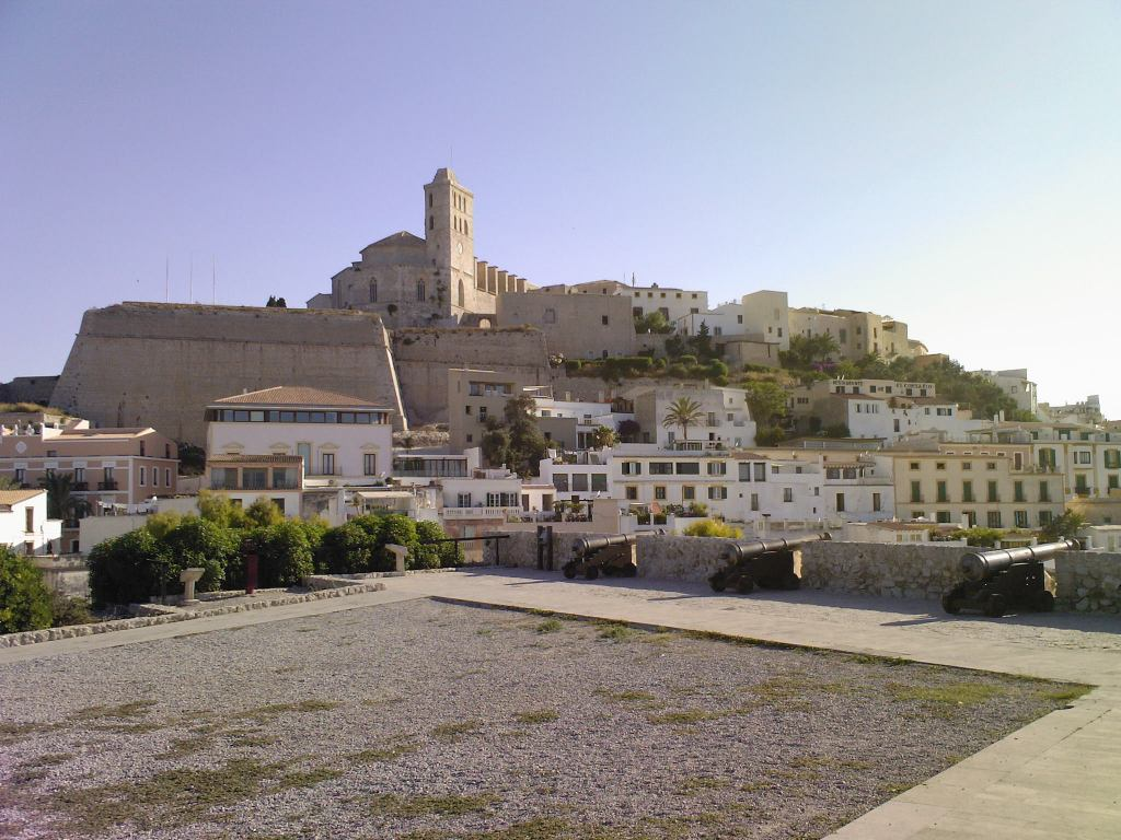 Ibiza fortress cannons courtyard image