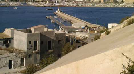Ibiza Harbour view from D'Alt Villa