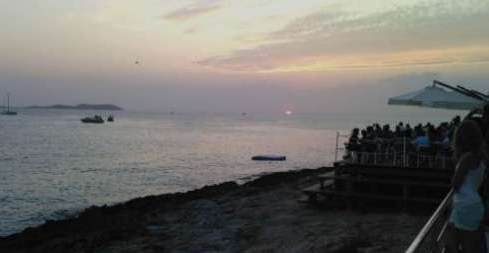 Sunset view from Cafe Mambo